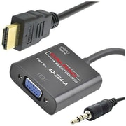 Calrad® 40-284A HDMI to VGA/Mini-Phone Audio/Video Converter Cable, Black