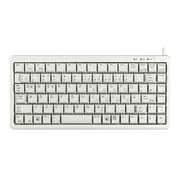 CHERRY® G84-4100 Ultraslim USB/PS/2 Miniature Keyboard, Light Gray (G84-4100LCAUS-0)