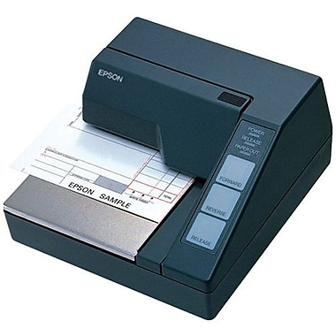 Epson® TM-U295 2.1 ips Monochrome Dot Matrix Receipt Printer, Serial, Dark Gray