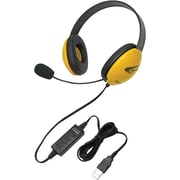 Ergoguys 2800YL-USB Stereo Over-the-Head Headset, Yellow