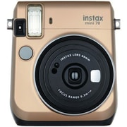 Fujifilm Instax® Mini 70 Instant Film Camera, 0.37x, 60 mm, Stardust Gold