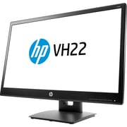 "HP® Value VH22 21.5"" LED LCD Monitor, Black"