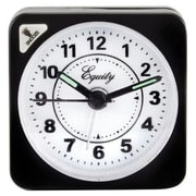 "La Crosse® 2 1/2"" x 1"" x 2 1/2"" Black Quartz Travel Alarm Clock (20078)"