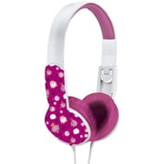 Maxell Safe Soundz 190451 Stereo Over-the-Head Headphone, Pink/White
