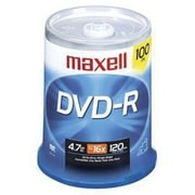Maxell 638014 4.7GB DVD-R Recordable Media, Spindle, 100/Pack