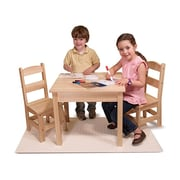Melissa & Doug Wooden Table and Chairs 3-Piece Set, 3 - 6 Years (2427)