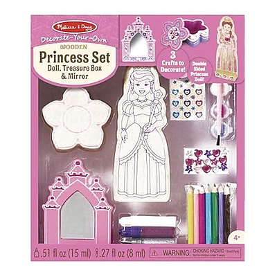 Melissa & Doug Decorate-Your-Own Wooden Princess Set, 4 - 8 Years (9543) IM13U7578