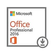 Microsoft® Office Professional 2016 Software License, 1 PC, Windows, Download (269-16814)