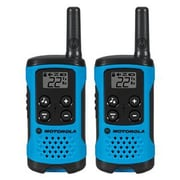 Motorola® T100 Talkabout™ 22 Channel Two Way Radio, Neon Blue, 2/Pack