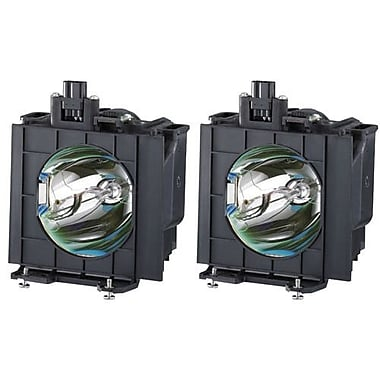 Panasonic® 275 W Replacement Lamp for PT-DW5100 Projectors, Black, 2/Pack (ETLAD57W)