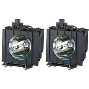 Panasonic® 275 W Replacement Lamp for PT-DW5100 Projectors, Black, 2/Pack (ETLAD57W)