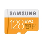 Samsung MB-MP128DA EVO Class 10/UHS-I 128GB microSDXC Memory Card with Adapter