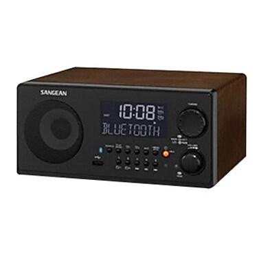 Sangean® WR-22 7 W Desktop Digital Clock Radio, Black