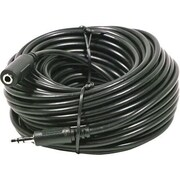 STEREN® 255-274 50' Mini-Phone RCA Male/Female Audio Cable, Black