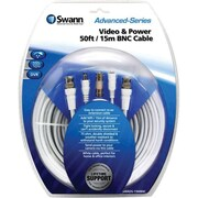 Swann® SWADS-15MBNC 50' BNC Video & Power Cable for CCTV Video Cameras