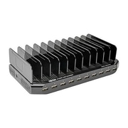 Tripp Lite 96 W Charging Station with Adjustable Storage, Black, 10-Port (U280-010-ST)