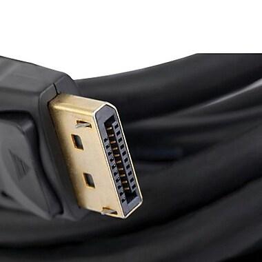 Unirise 6' DisplayPort Male/Male Audio/Video Cable, Black
