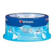 Verbatim® 95152 700MB CD-R Recordable Media with Branded Surface, Spindle, 30/Pack