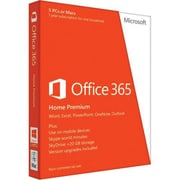 Microsoft Office 365 Home Premium 32/64 Bit Software, 5 Users, Windows/Mac OS, Download (6GQ-00091)