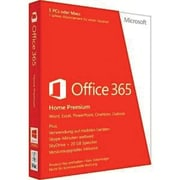 Microsoft Office 365 Home 32/64 Bit Software, 5 Users, Windows/Mac OS, Download (AAA-04258)
