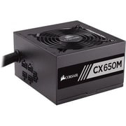 Corsair® 650 W Power Supply, Black (CX650M)