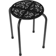 "Atlantic® Dar® Daisy 17 1/2"" Stackable Metal Stool, Black, 2/Pack (38436106)"