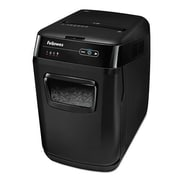 Fellowes® AutoMax  130C 130 Sheets Cross Cut Hands Free Auto Paper Shredder, Black