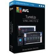 AVG TuneUp Software Subscription License, Unlimited Devices, 1 Year (TU17T12EN)