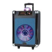 Supersonic® IQ Sound® IQ-3612DJBT Portable Bluetooth DJ Speaker with Disco Ball, Blue