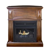 Pleasant Hearth Dual Fuel Vent Free Wall Mount Natural Gas Fireplace; Cherry