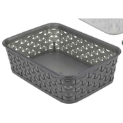 Home Basics Transparent Plastic Basket; Black