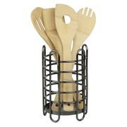 Home Basics Cutlery Holder; Black Onyx