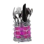 Home Basics 16 Piece Flatware Set; Pink