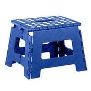 Home Basics 1-Step Plastic Folding Step Stool; Blue