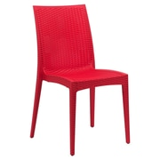 LeisureMod Mace Side Chair; Red