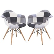 LeisureMod Willow Eiffel Accent Chair (Set of 2)