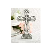 FashionCraft Pewter Cross Centerpiece and Cake Topper