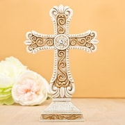 FashionCraft Vintage Design Cross Center Piece and Cake Topper