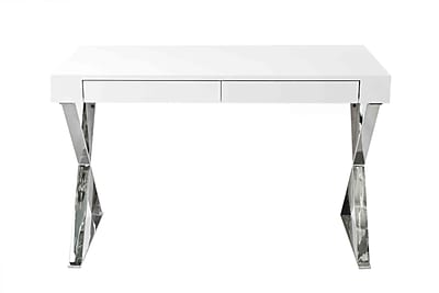 Pangea Home Mason Writing Desk; White