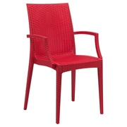LeisureMod Mace Arm Chair; Red