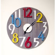 Wilco Home Inspire Me Wood 3-Dimensional Rasied Number Wall Clock