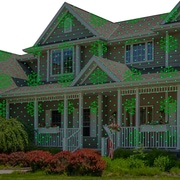 Snowflakes, Trees, Red, & Green -Starscapes Laser Projection Light w/ Speed Control, Pattern Freeze, & Remote