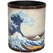 Oriental Furniture Great Wave Off Kanagawa 2.9 Gallon Fabric Trash Can