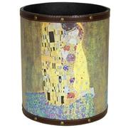 Oriental Furniture Klimt The Kiss 2.9 Gallon Fabric Trash Can