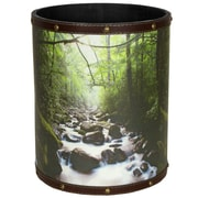 Oriental Furniture River of Life 2.9 Gallon Fabric Trash Can