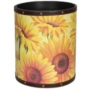 Oriental Furniture Sunflower Garden 2.9 Gallon Fabric Trash Can