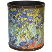 Oriental Furniture Van Gogh Irises 2.9 Gallon Fabric Trash Can
