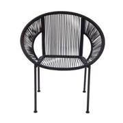 Cole & Grey Metal Arm Chair; Brown