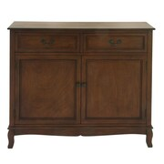 Cole & Grey Wood Cabinet; Brown