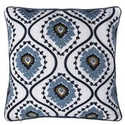 14 Karat Home Inc. Sunrise Ikat Embroidered Throw Pillow